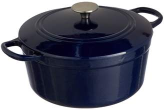 Linea 25.5 Cast Iron Casserole, Midnight