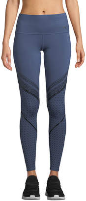 Puma Active Everyday Train Graphic Performance Tights, Blue
