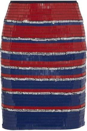 Embellished Cotton Mini Skirt