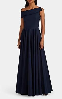 Martin Grant Women's Asymmetric Cotton Poplin Long Dress - Navy