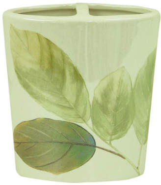 Bacova GUILD Waterfall Leaves Ceramic Toothbrush Holder