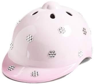 Glitzy Bella Crystallized Pink Helmet