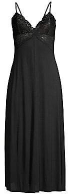 Jonquil Women's Oliva Lace Trim Knit Nightgown