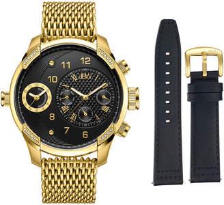 JBW Men's G3 World Traveler Dual Time Stainless Steel Watch, 46mm
