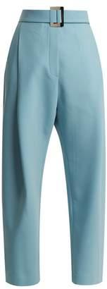 Ellery - Kool Aid Waist Belt Stretch Canvas Trousers - Womens - Light Blue