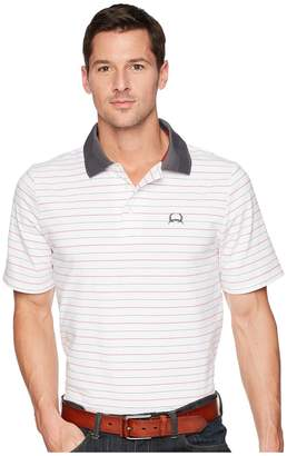 Cinch Athletic Tech Polo Striped Men's Clothing