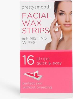 boohoo 16 Facial Wax Strips With Wipes