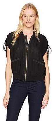 Jones New York Women's Sheer SLV Bomber Jacket
