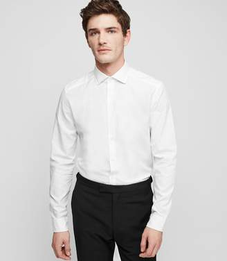 Reiss ORDER BY MIDNIGHT DEC 15TH FOR CHRISTMAS DELIVERY BRUCE PAISLEY JACQUARD SHIRT White