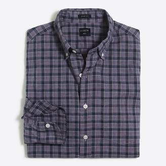 J.Crew Factory Tall slim-fit washed plaid shirt in heathered cotton