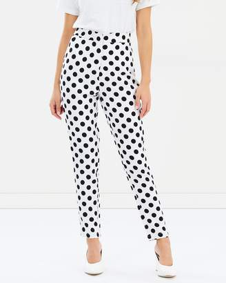 Missguided Polka Dot Cigarette Suit Trousers