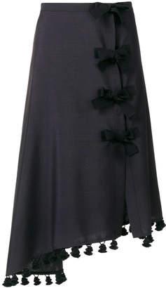 Altuzarra diagonal hem faux wrap skirt