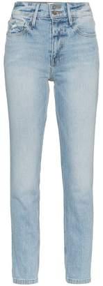 Frame Le Sylvie Mid-Rise Straight Leg Jeans