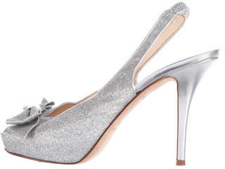 Kate Spade Kate Spade New York Glitter Bow-Accented Pumps