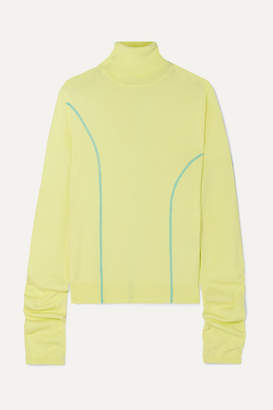 Andersson Bell - Knitted Turtleneck Sweater - Pastel yellow