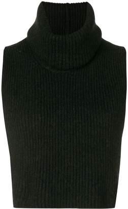 Isabel Benenato cropped knit vest