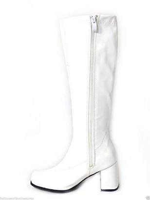 Glamorous Fashion New Ladies Womens Fancy Dress Party Go Go Boots 1960s & 1970s Retro White