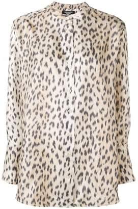e27a58eb7f7b Calvin Klein Leopard Print Top - ShopStyle