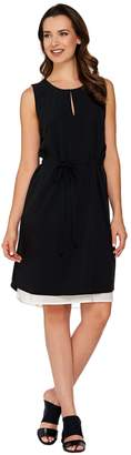 Kelly By Clinton Kelly Kelly by Clinton Kelly Double Layer Dress with Belt