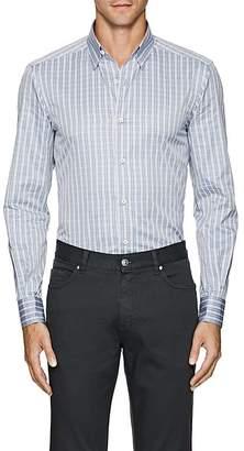 Ermenegildo Zegna Men's Plaid Cotton Poplin Button-Down Shirt