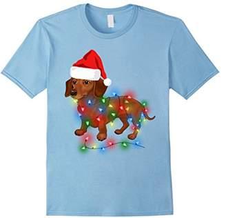 Christmas Lights Dachshund Wiener Dog Lover T Shirt Gifts
