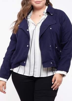 Blu Pepper Perch by Woven Jacket (Plus Size)