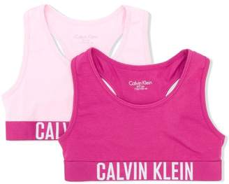 Calvin Klein Kids logo banded crop top two pack