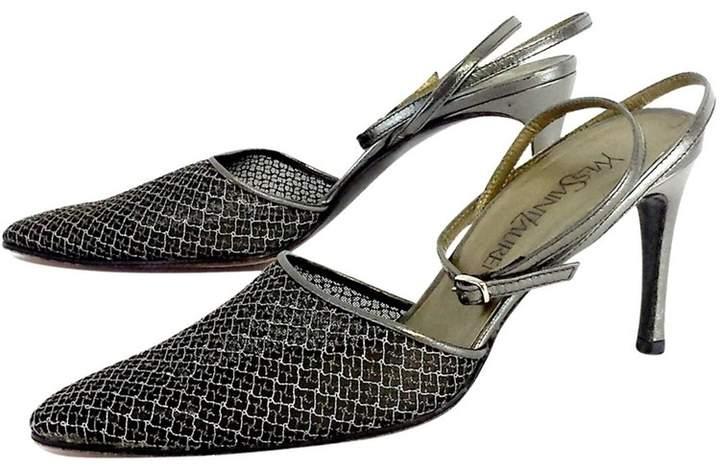 Yves Saint Laurent Silver Wire Mesh Heels