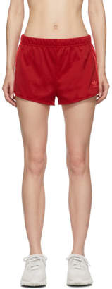 adidas Red 3-Stripe Shorts