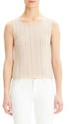 Theory Crochet Sleeveless Cotton Blend Sweater
