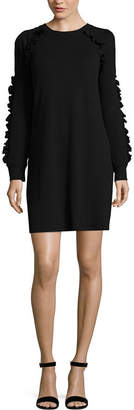 City Streets Cold Shoulder Sweater Dress