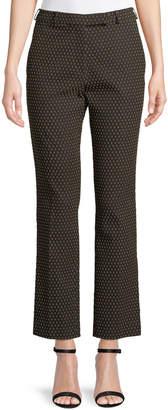 Etro Straight-Leg Textured Dobby Cropped Pants