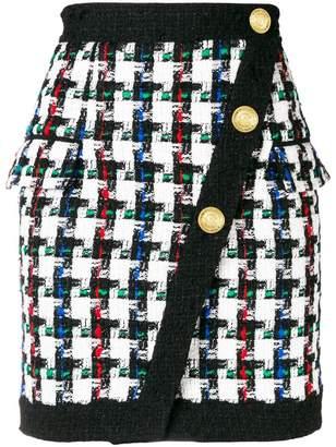 Balmain Pied de Poule mini skirt