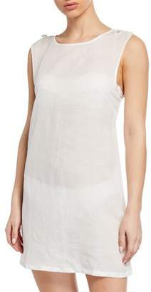 Onia Marina Short Linen Coverup Dress