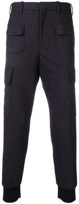 Neil Barrett tapered cargo trousers