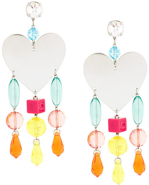 Miu Miu Miu Miu oversized heart earrings