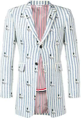 Thom Browne Duck Embroidery Stripe Sport Coat