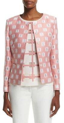 Escada Long-Sleeve Snap-Front Jacket, Rosehip $1,875 thestylecure.com
