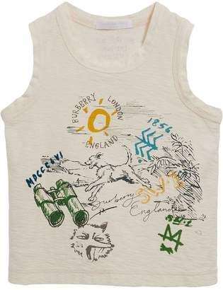 Burberry Adventure Motif Cotton Jersey Vest