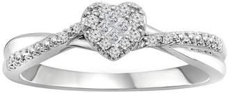 MODERN BRIDE Promise My Love 1/8 CT. T.W. Diamond 10K White Gold Promise Ring