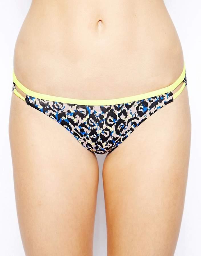 Exotic Feline Binded Hipster Bikini Bottom
