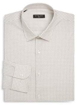 Saks Fifth Avenue MODERN Slim-Fit Geometric-Print Woven Dress Shirt