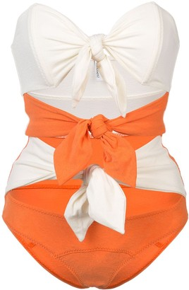 Lisa Marie Fernandez Triple Poppy knotted swimsuit