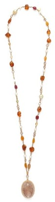 Jade Jagger Diamond, Citrine, Pearl & 18kt Gold Necklace - Womens - Yellow