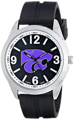 Game Time Men's COL-VAR-KSU Varsity Analog Display Japanese Quartz Black Watch