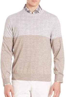 Brunello Cucinelli Wool & Cashmere Blend Pullover Sweater