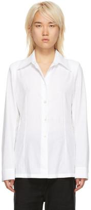 Ann Demeulemeester White Rigatino Shirt