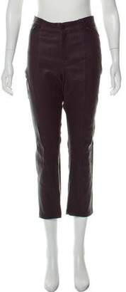 Vince Leather Mid-Rise Pants