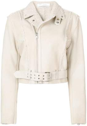 IRO zipped shearling jacket