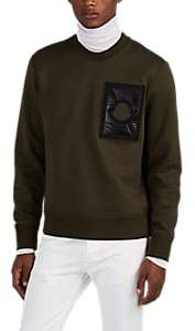 Craig Green 5 MONCLER Men's Logo-Patch Cotton-Blend Sweatshirt - Olive